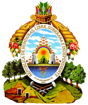 герб Гондураса (coat of arms Honduras)