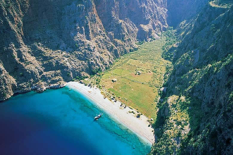 Butterfly Valley, Fethiye Turkey - courtesy of  Mugla Culture and Tourism